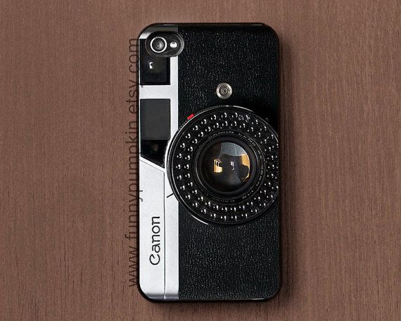 Vintage Canon Camera art print phone case cover, Galaxy s2 case, Galaxy s3, s4 case, iphone case 4, 4s, iphone 5 case, ipod touch 4, 5 case on Etsy, $9.99