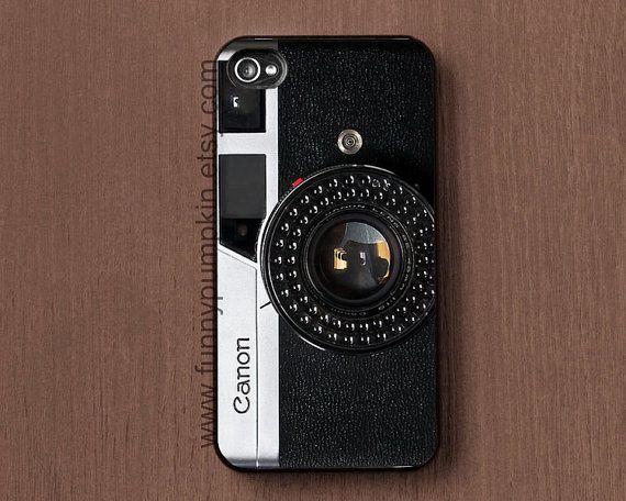 Vintage Canon Camera art print phone case cover, Galaxy s2 case, Galaxy s3, s4 case, iphone case 4, 4s, iphone 5 case, ipod touch 4, 5 case