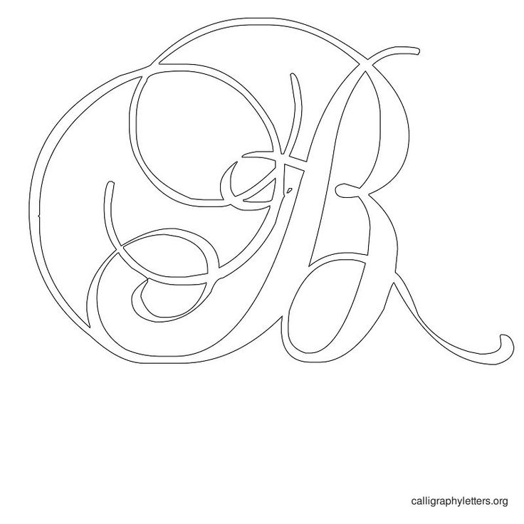 Free printable calligraphy letter stencils to print