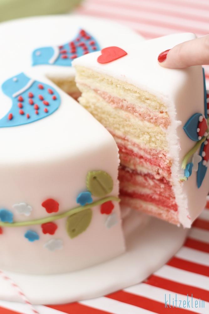 fondant cake, love the folklore look!