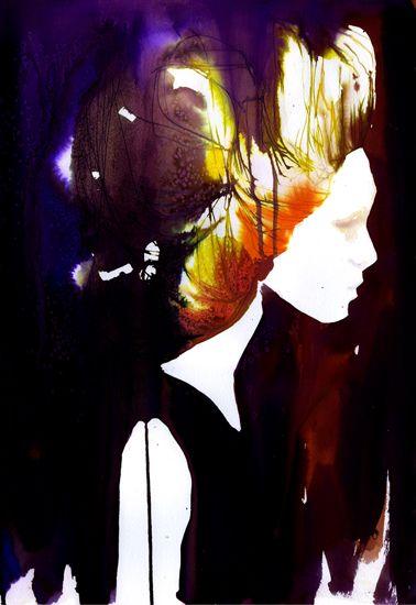Watercolour artwork by Stina Persson