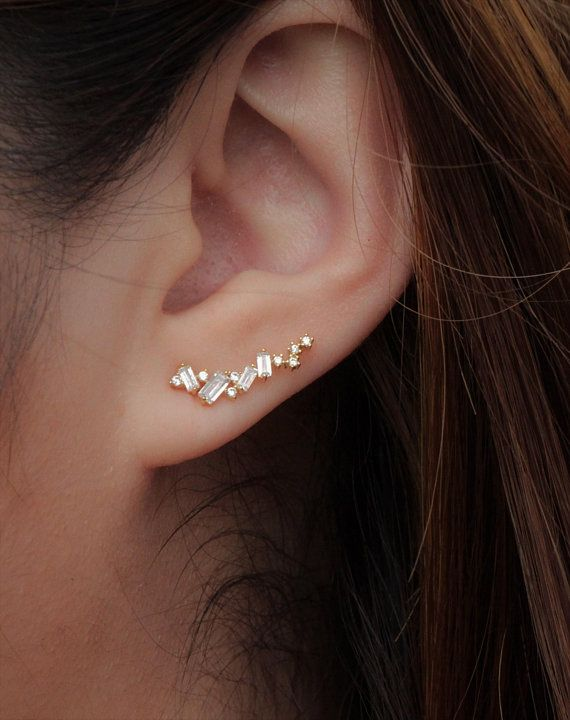 Minimalist Spring Bloom Ear Crawlers | Flower Ear Climbers | Ear Sweeps | Ear Crawler | Bridesmaid Gift | Girlfriend Gift