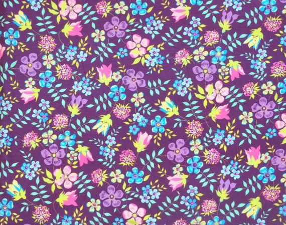 Liberty fabric Tana Lawn Edenham- 18''x26'' Fat Quarter Purple,Yellow,Orange- NEW 2015 Classic Collection