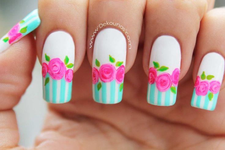 Decoracion de uñas rosas 1-1