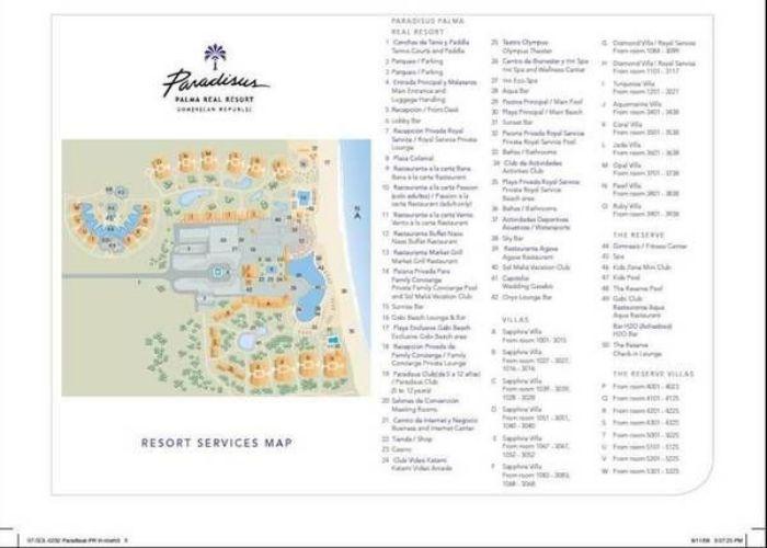 Map Paradisus Punta Cana Resort