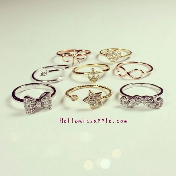 Which one is your fav from @hellomissapple   Shop now at www.hellomissapple.com for more awesome and dainty jewelry pieces Don't forget to follow @hellomissapple @hellomissapple  @hellomissapple @hellomissapple - @bestylish- #webstagram