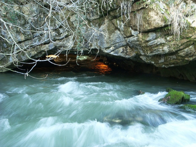 Cave Aggiti at Aggitis river, Drama, Greece. More at http://www.blogtravels.gr/2013/01/drama-nevrokopi-falakro-oros/