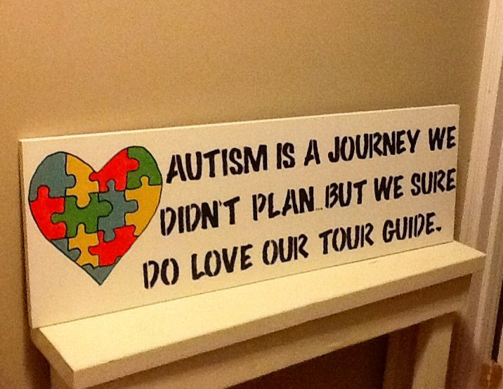 Wood sign. #Autism