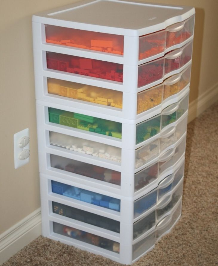 You may have seen those plastic storage drawers at your local big box store. They are great solution for storing clothes, but check out these alternate ideas for using these nifty storage containers!