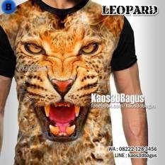 Jual KAOS 3D Harimau, Kaos Tema HARIMAU, Kaos Gambar Macan, TIGER 3D T-Shirt