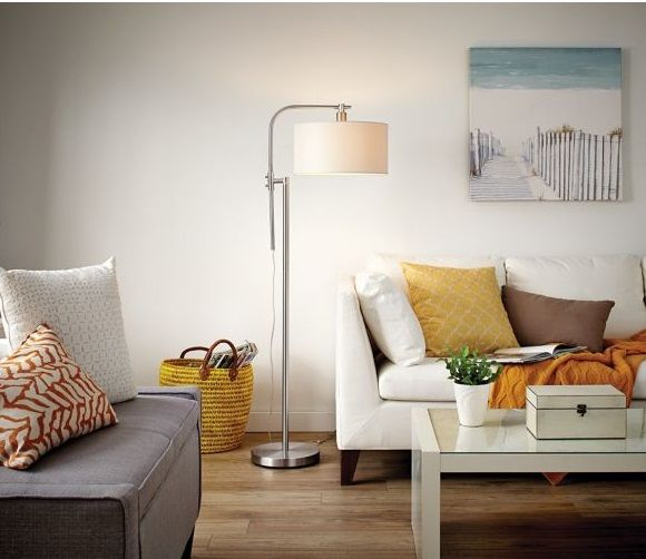 Enjoy The Clean Modern Design Of This CANVAS Rowan Floor Lamp