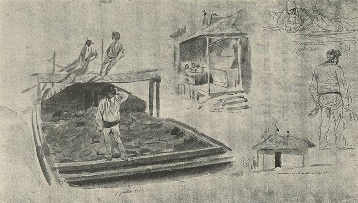 Orşova şi Cerneţi - Schiţe luate de pe vapor