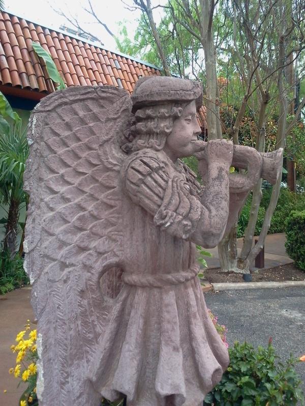 Mexican Gardens, Mexico, Angel, Statue, Statuary, Succulents, Plants,  BohemianBeachJunque