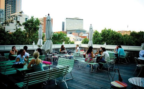 Madame Brussels #rooftop bar - A 'rather fancy terrace and public house', perfect for chilling out on Sunday afternoon