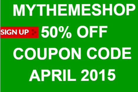 MYTHEMESHOP #COUPON #CODE #APRIL #2015 \u2013 50% OFF for #Free