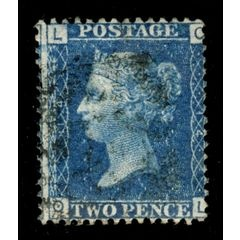 GB Queen Victoria TwoPenny Blue 1858-70 Plate 14 for R95.00