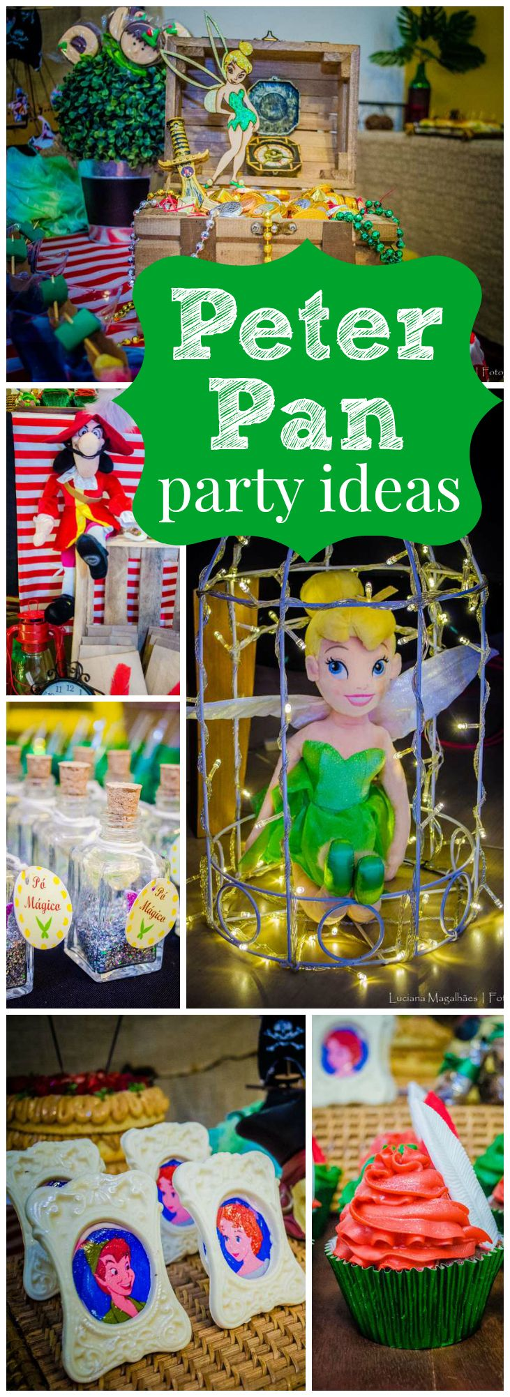 What an amazing Peter Pan and Tinkerbell party! See more party ideas at CatchMyParty.com!