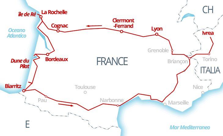 3200 km - Costa d'Argento sull'Oceano Atlantico, Francia