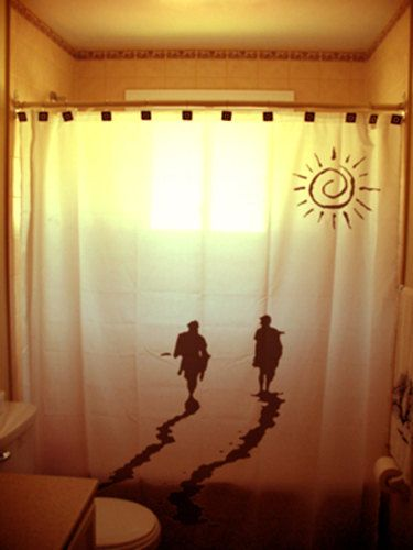 sunset surfers shower curtain surfing surf by CustomShowerCurtains, $75.99