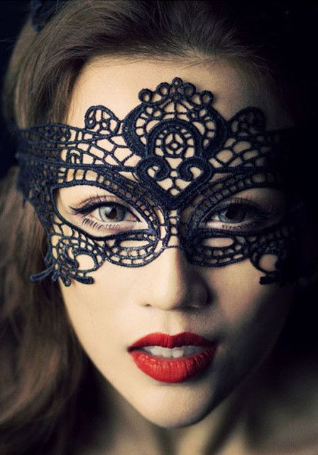 Venetian-Style Crochet Mask - Accessories