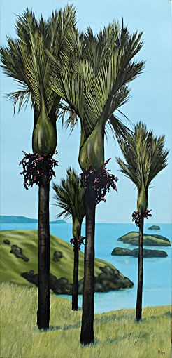 kirsty nixon nz landscape artist, acrylic paintings, bush scenes