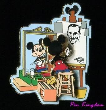 "Disney trading pin: Norman Rockwell-style ""Self Portrait"""