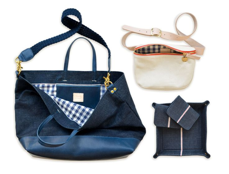 Clare Vivier and Jean Stories have teamed up to come out with a whole collection of denim accessories for this holiday season. The collection combines the linear and sleek designs of Vivier with the rustic heft of denim. Denim is one of the only fabrics in fashion that improves with age and wear. These products are to be made with raw denim. The more you wear the denim, the more beautiful it will become. These accessories mix functional and chic. -Amber R.