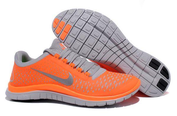 Nike Free Run 3.0 V4 Zapatillas para Hombre Naranjas totales/Reflexionar Plata-Lobo Grises http://www.esnikerun.com/