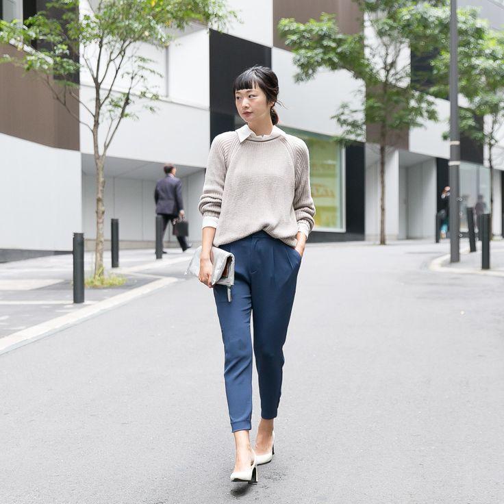 ドレープジョガーパンツ モデル:岩渕加恵@kae0113
