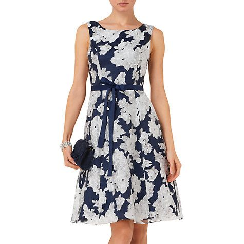 Buy Phase Eight Norma Burn Out Dress, Navy/White Online at johnlewis.com