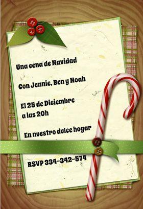 """Envoltura de Navidad"" printable invitation. Customize, add text and photos. print for free!"
