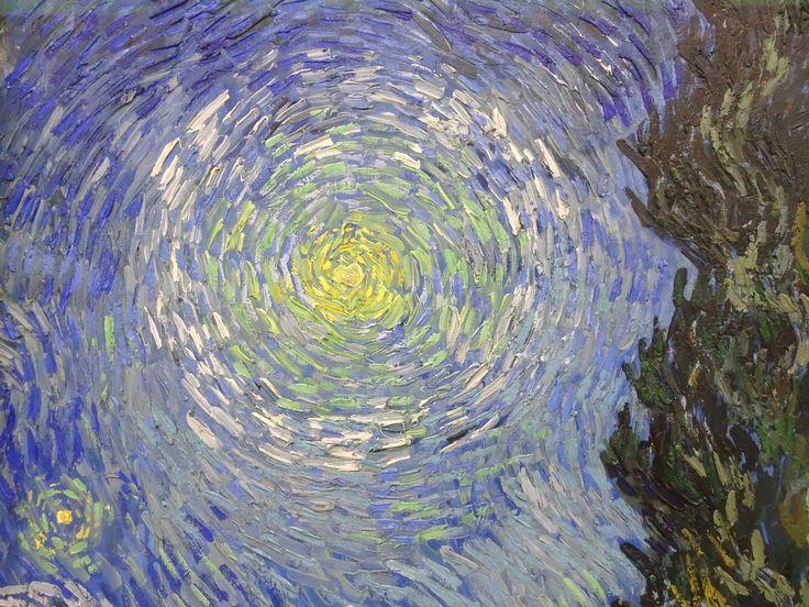 Hoge Veluwe - Museum Kröller-Müller. Vincent van Gogh (1853/1890) - 'Landweg in de Provence bij nacht' - detail - 12/15 mei 1890 - olieverf op doek. Foto: G.J. Koppenaal - 30/8/2017.