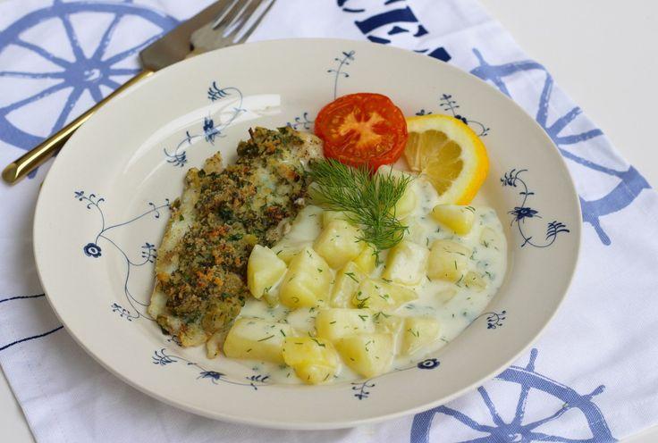 Dillstuvad potatis med persiljefisk