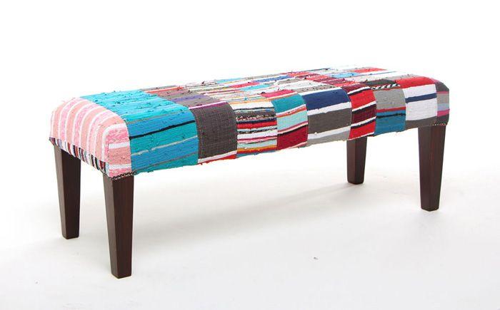 Striped bench | Chic Shab