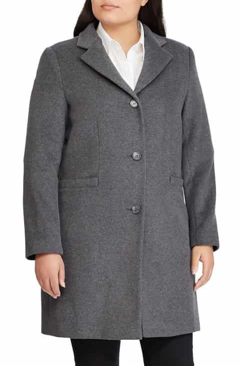 7ba14f72cc7 Lauren Ralph Lauren Wool Blend Reefer Coat (Plus Size) 2019 in 2019 ...