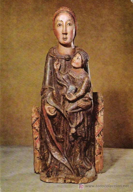 Virgen románica.Museo Nacional de Cataluña