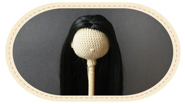 Делаем настоящие волосы кукле амигуруми. Real like hair for amigurumi doll.