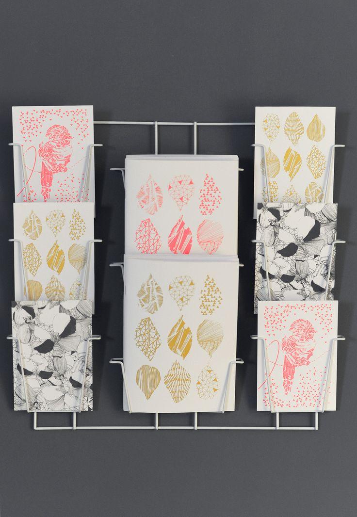 Collection MOSAÏC  papeterie grise Or et rose fluo photos : Betty studio mise en scène : les Ambiances d'isa