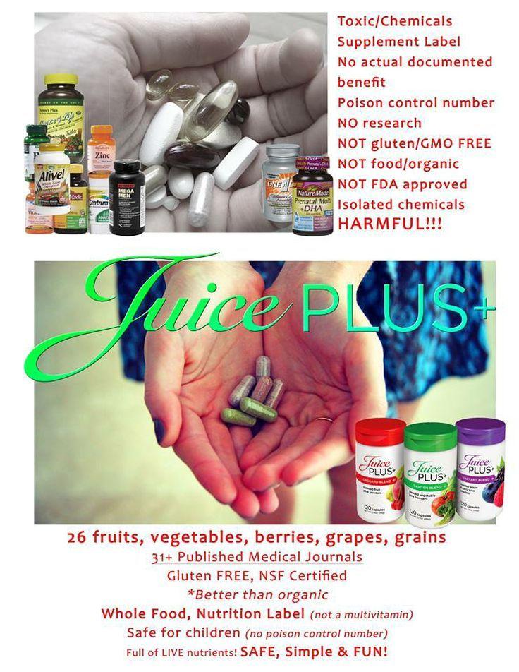 Juice Plus VS. Supplements/Vitamins | Healthy and Happy ...