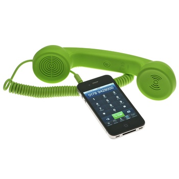 Save your brain. Block cell phone radiation with this retro handset. Very interesting! :)