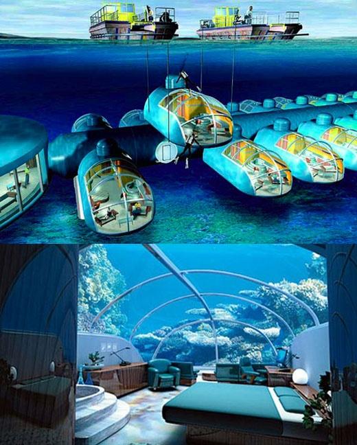 Fiji underwater hotel - Tres Space Odyssey!