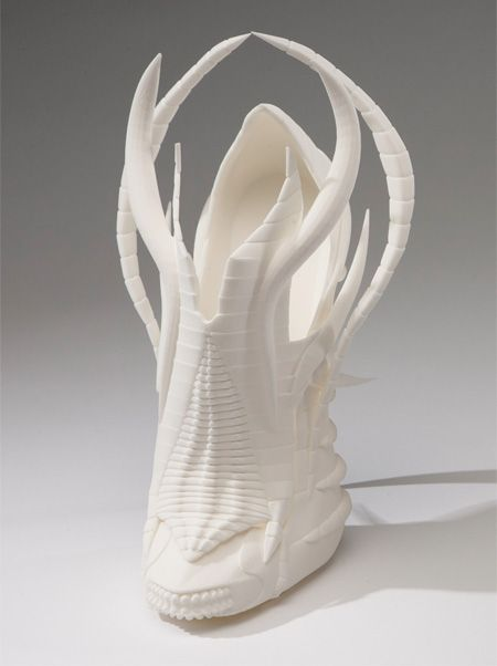 Beautiful and creative shoes designed and 3D printed by talented footwear designer Janina Alleyne.      Unusual high heel shoes were inspired by the anatomy and silhouettes of different animals.    3D printing technology will revolutionize the world of fashion. In the future, we will see more and more shoes with unique and memorable designs.