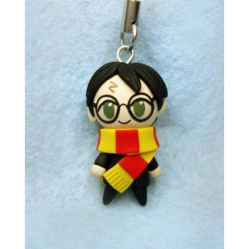 Harry Potter, keychain,mobile accessories,harry potter,fimo, llavero,colgante de movil,