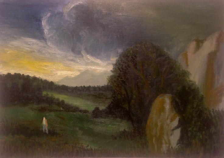 The painter Oil on linen canvas 92 x 65 cm