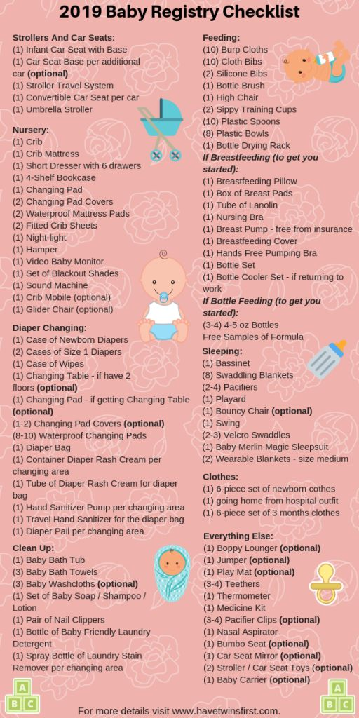 Baby Registry Checklist 2019