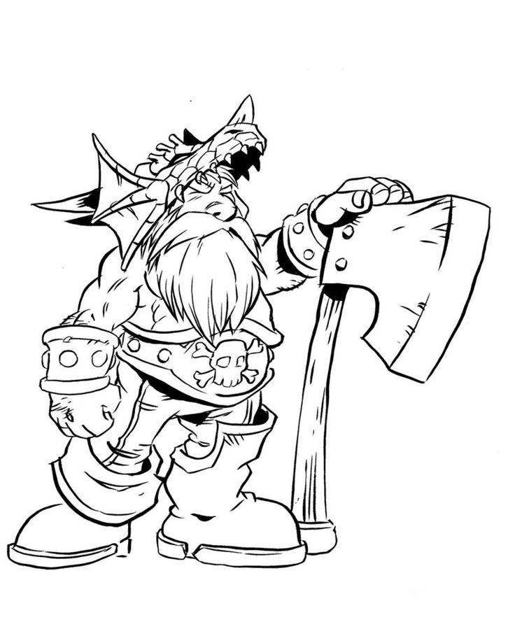 free printable world of warcraft coloring pages
