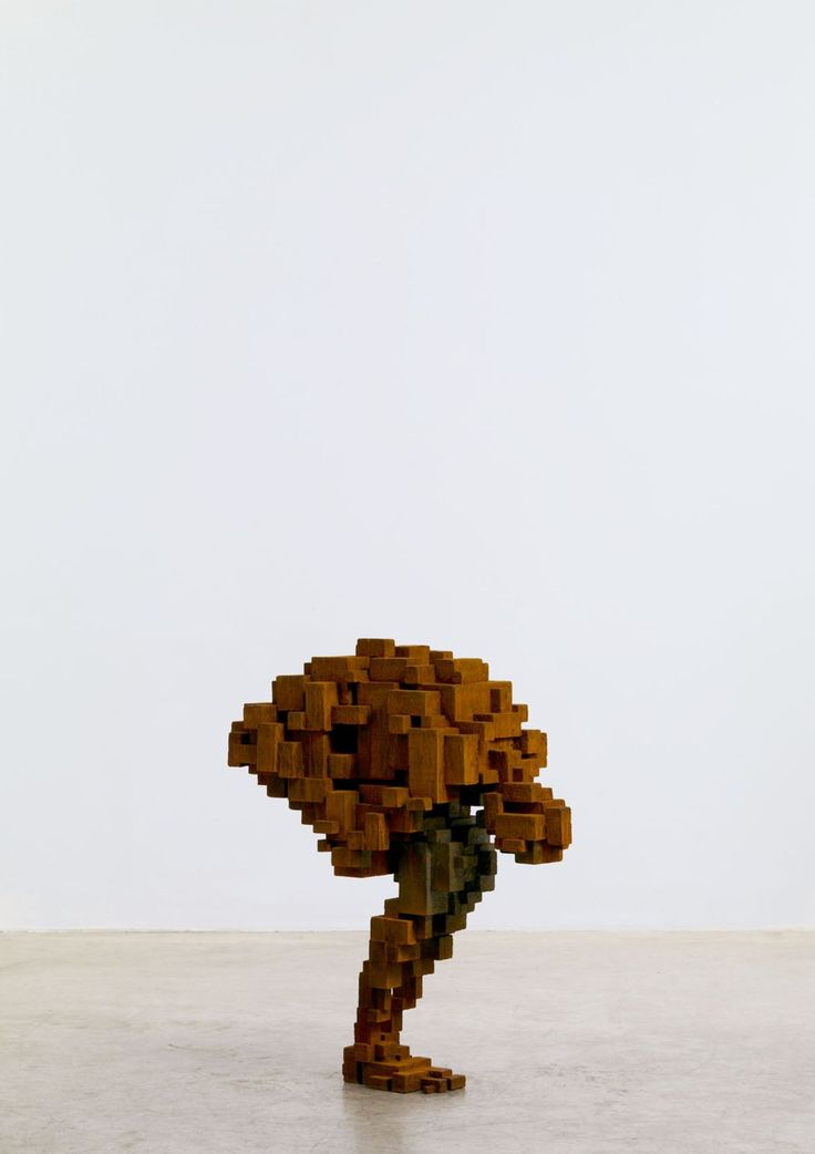 "Emotion filled wood. anthony gormley ""clutch"""