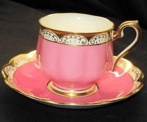 Royal Albert Hot-Doggity-Pink  Tea cup and saucer