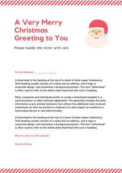 25+ parasta ideaa Pinterestissä Santa letter template Kirje - santa letter template
