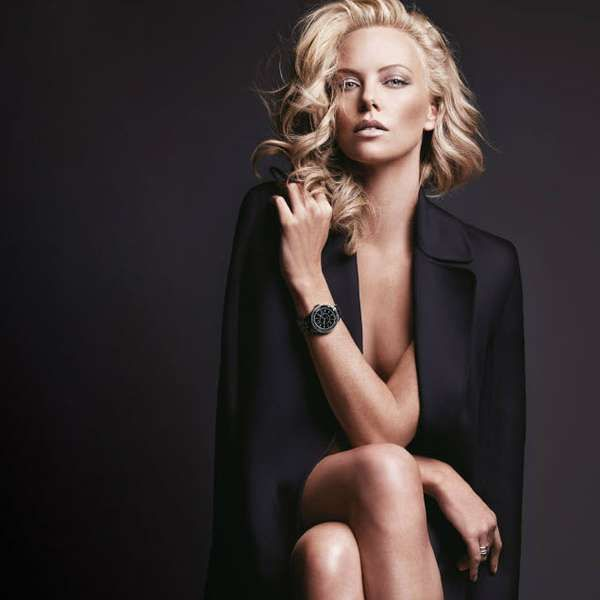 Actress Charlize Theron returns as the face of the Dior VIII Timepieces campaign